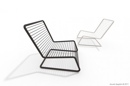 Wire chaise